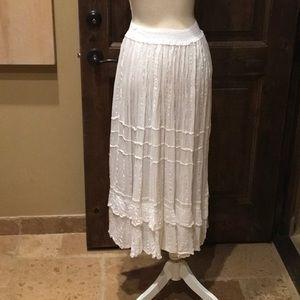 White Crinkle Skirt or Dress